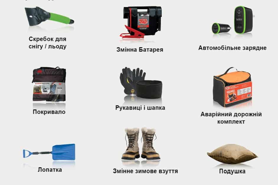 Необхідне у Автомобілі протягом зимового періоду | Xenum Ukraine